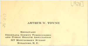 Arthur W. Towne business card