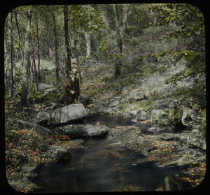 Orient Brook (man fishing in the woods)