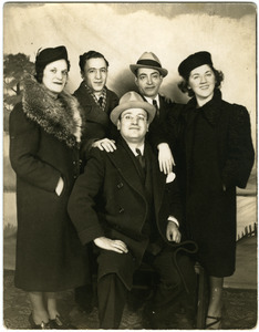 Aunt Jenny Sotirelis, Uncle Ztrakas, Uncle Harry Sotirelis, Helen Maravell (l. to r.), and George Maravell (seated)
