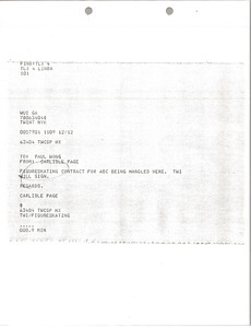 Telex printouts from Carlisle Page to Paul Wong