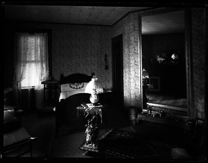 Interior of a bedroom in an unidentified house