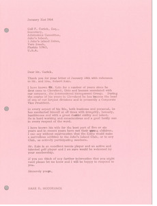 Letter from Mark H. McCormack to Gail F. Garick