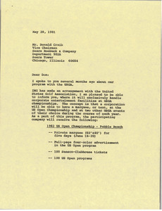 Letter from Mark H. McCormack to Donald Craib