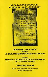 The Association for Gravestone Studies, Second West Coast conference