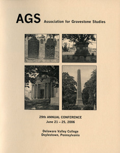The Association for Gravestone Studies 29th annual meeting and conference : Conference program