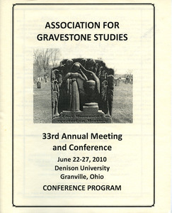The Association for Gravestone Studies 33rd annual meeting and conference : Conference program