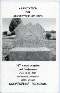 Association for Gravestone Studies 36th annual meeting and conference : Conference program
