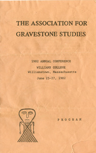 The Association for Gravestone Studies 1982 annual conference : Program