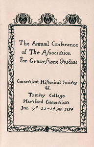 The annual conference of the Association for Gravestone Studies