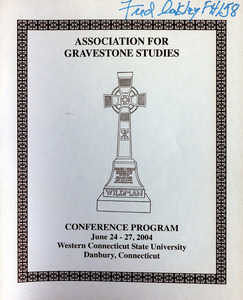 The Association for Gravestone Studies 27th conference and annual meeting