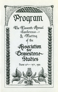 Association for Gravestone Studies conference and annual meeting