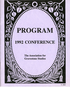 The Association for Gravestone Studies, 15th conference and annual meeting