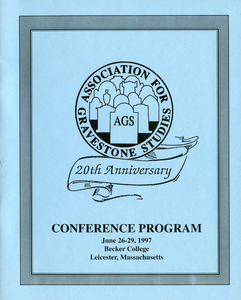 The Association for Gravestone Studies, 20th conference and annual meeting