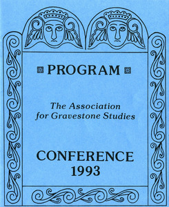 The Association for Gravestone Studies, 16th conference and annual meeting