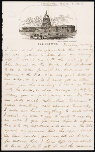 Letter from Luther Bruen, Washington, DC to Augusta Bruen, 1861 March 19