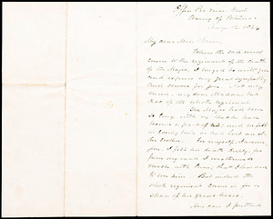 Letter from Alexander J. Dallas (12th US Infantry), Office Pro. Mar. Genl., Army of Potomac to Augusta Bruen, 1864 August 12