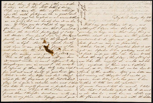 Letter from Augusta Bruen, Dayton, OH to Luther Bruen, 1861 August 11