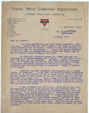 Letter from Robert H. Mann to Laurence L. Doggett (March 16, 1916)
