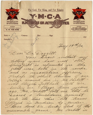 Letter from Herbert C. Patterson to Laurence L. Doggett (May 14, 1916)