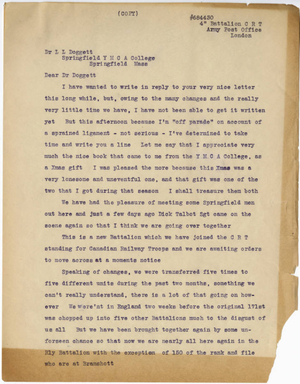 A transcript of a letter from Daniel Kruidenier and Henri Boeve to Laurence L Doggett