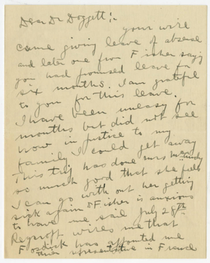 Letter from James H. McCurdy to Laurence L. Doggett (July 13, 1917)
