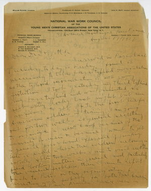 Letter from James H. McCurdy to Laurence L. Doggett (August 17, 1917)