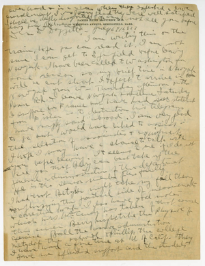 Letter from James H. McCurdy to Laurence L. Doggett (July 19, 1917)