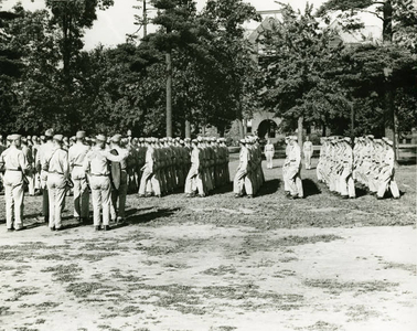 Army Air Corps Marching at Springfield College (1943)