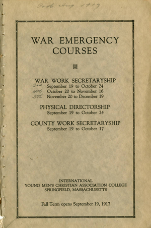 War Emergency Courses at Springfield College, 1917