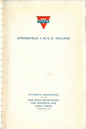 The Fifteenth Conference of the War Work Secretaries for Overseas and Home Camps, November 1918