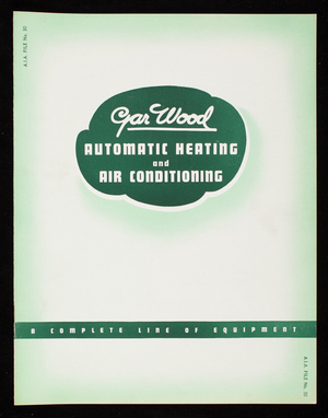 Automatic heating and air conditioning equipment, Gar Wood Industries, Inc., Air Conditioning Division, Detroit, Michigan