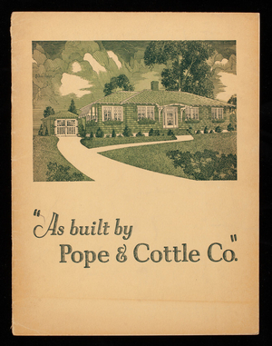 As built by Pope & Cottle Co., Pope & Cottle Co., Revere Beach Parkway, Revere, Mass.