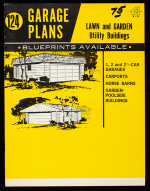124 garage plans, lawn and garden utility buildings, National Plan Service, Inc., Chicago, Illinois