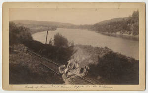 Connecticut River and railroad photographs