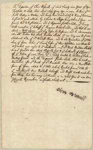 Deposition of Oliver Wiswall concerning the South Battery, Boston, Massachusetts