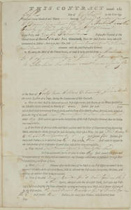 Contract, 1797 October 5, between David Gardner Jr. and David Gardner III, Machias, Me., and Joseph Habersham, Postmaster General of the United States.