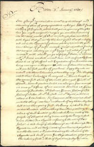 Letter by Isaac Addington, Jr., Boston, Massachusetts, to Isaac Addington, Sr., London