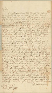 Letter by Ephraim Jones, Fort Cumberland, Nova Scotia, to Allice Jones, Concord, Massachusetts.