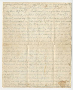 Correspondence of Private James Andrew Mansfield.