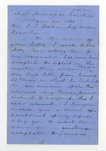 Letters to Edward Jenkins Harden, 1861 January - September