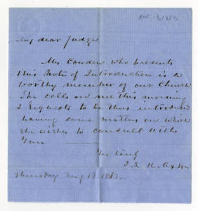 Letters to Edward Jenkins Harden, 1863 April - August