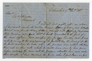 Letters to Edward Jenkins Harden, 1863 September - October