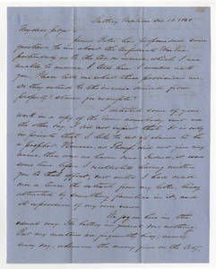 Letters to Edward Jenkins Harden, 1863 December