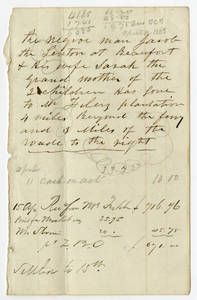 Slave sale papers