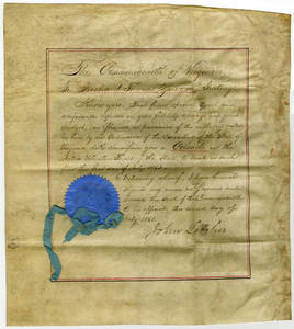 Appointment of Richard Thomas Zarvona as Colonel of the Virginia Active Volunteer Forces by John Letcher