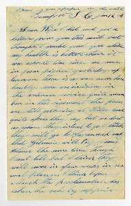 Correspondence by Rufus Chapman, 1864 January-April