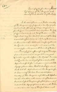 William Bollan papers, 1750-1751
