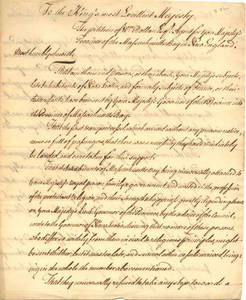 William Bollan papers, Acadians sent to Massachusetts, undated