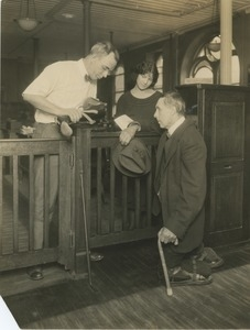 A man receives a new prosthesis