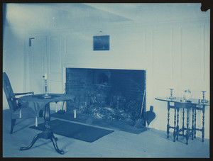 Emery Moses House, West Newbury, Mass., parlor with fireplace